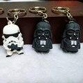 2017 New Star Wars Figuras de juguete llavero Negro Knight Darth Vader Stormtrooper PVC Figuras de Acción juguetes 4 cm Bolsa de teléfono adornos
