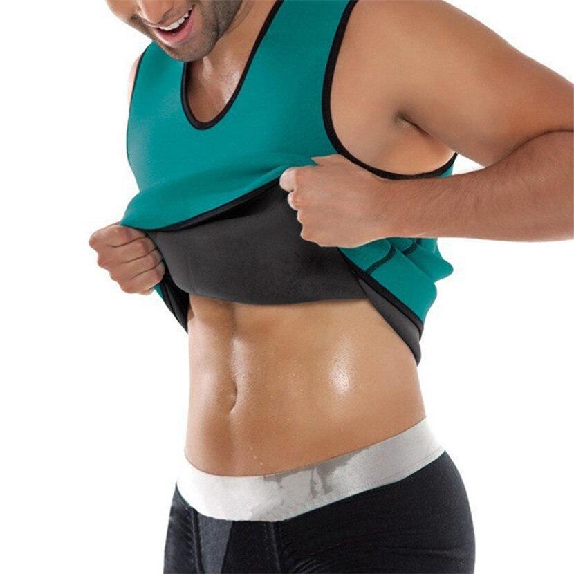 2018 Body Shaper Man Slimming Belt Belly Men Slimming Vest Abdomen Corset Neopren Sweat Waist Trainer Male Plus Size S-5XL