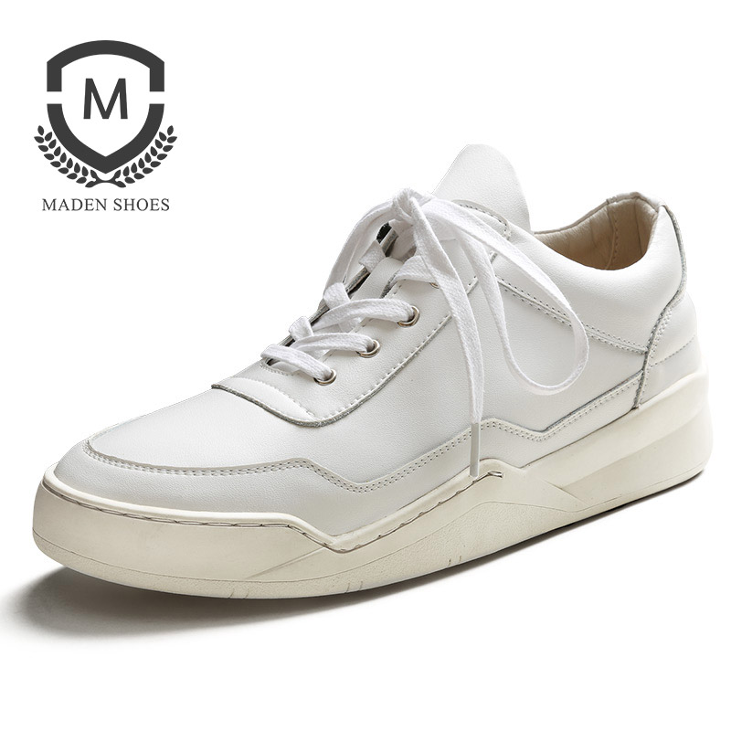 MADEN Spring New Men's casual shoes Height Increasing Height Increasing Lace-up Flat shoes Classic High Quality Leather Men shoe 2017 spring brand new fashion pu stretch fabric men casual shoes high quality men casual shoes lace up casual shoes men 1709