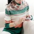 Новая мода милые женщины осень зима свитер женские трикотажные с длинным рукавом пуловер свободный плюс размер основной рубашка одежда