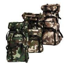 80L Camouflage Nylon Rucksack Outdoor Backpack Padded Shoulder Bag Luggage Knapsack Pack for Sports Camping Hiking outdoor bag