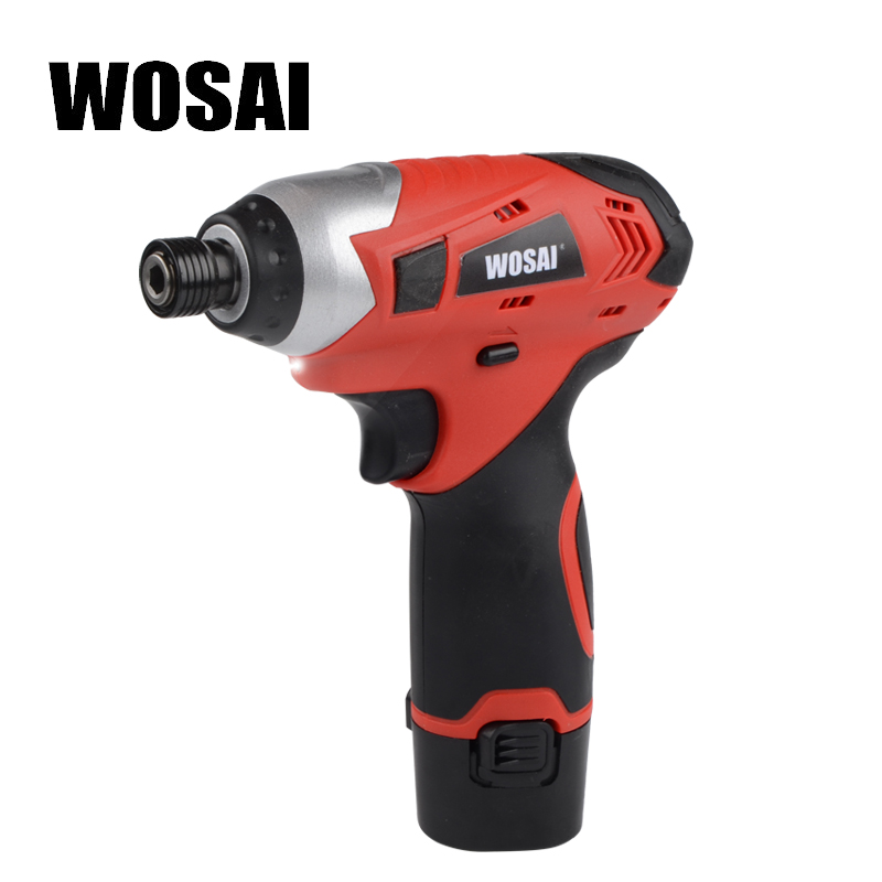 WOSAI 12V Electric Cordless Screwdriver Lithium-Ion Cordless Impact Screwdriver Household Multifunction Electric Drill Tools wosai 6pcs electric drill