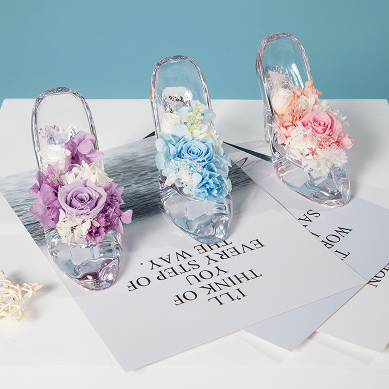 ZOTOONE Wedding Decoration Ecuador Rose Everlasting Preserved Flower Crystal Shoes Easter Valentines Day Gift for Sweetheart GZOTOONE Wedding Decoration Ecuador Rose Everlasting Preserved Flower Crystal Shoes Easter Valentines Day Gift for Sweetheart G