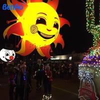 AO382 Nadmuchiwane helem Słońce, nadmuchiwany Balon Parada/gigantyczne Nadmuchiwane Helem/niebo Balon z LED light dla parada