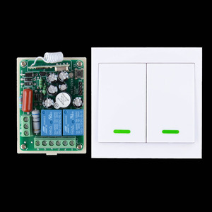 AC 220V 2 CH Relay Wireless Remote Switch Contact NO COM NC RF Wireless Switch Home LED Lamp Light Remote Lighting Wall Panel
