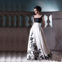 Faerie Vestido De Formatura Long Prom Dresses With Black Appliques Square Neck Floor Length White Prom Dress Backless