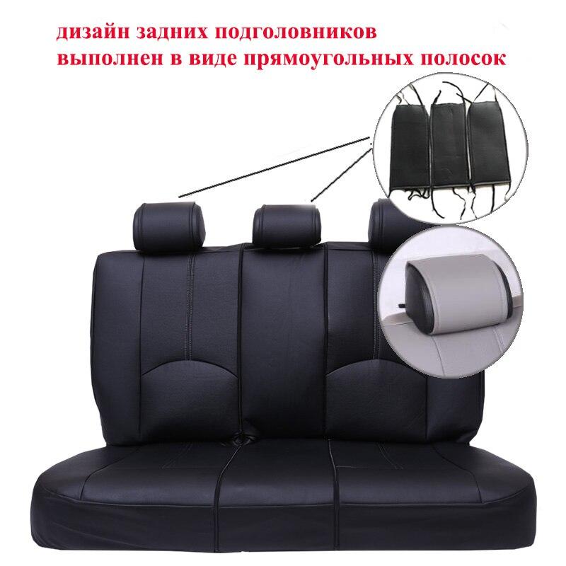 1 ensemble Nouveau de voiture housse de siège en cuir Pu matériel fabriqué par la housse de siège Noir couvre siege de voiture universelle pour la voiture volvo pour la voiture nissan - 4