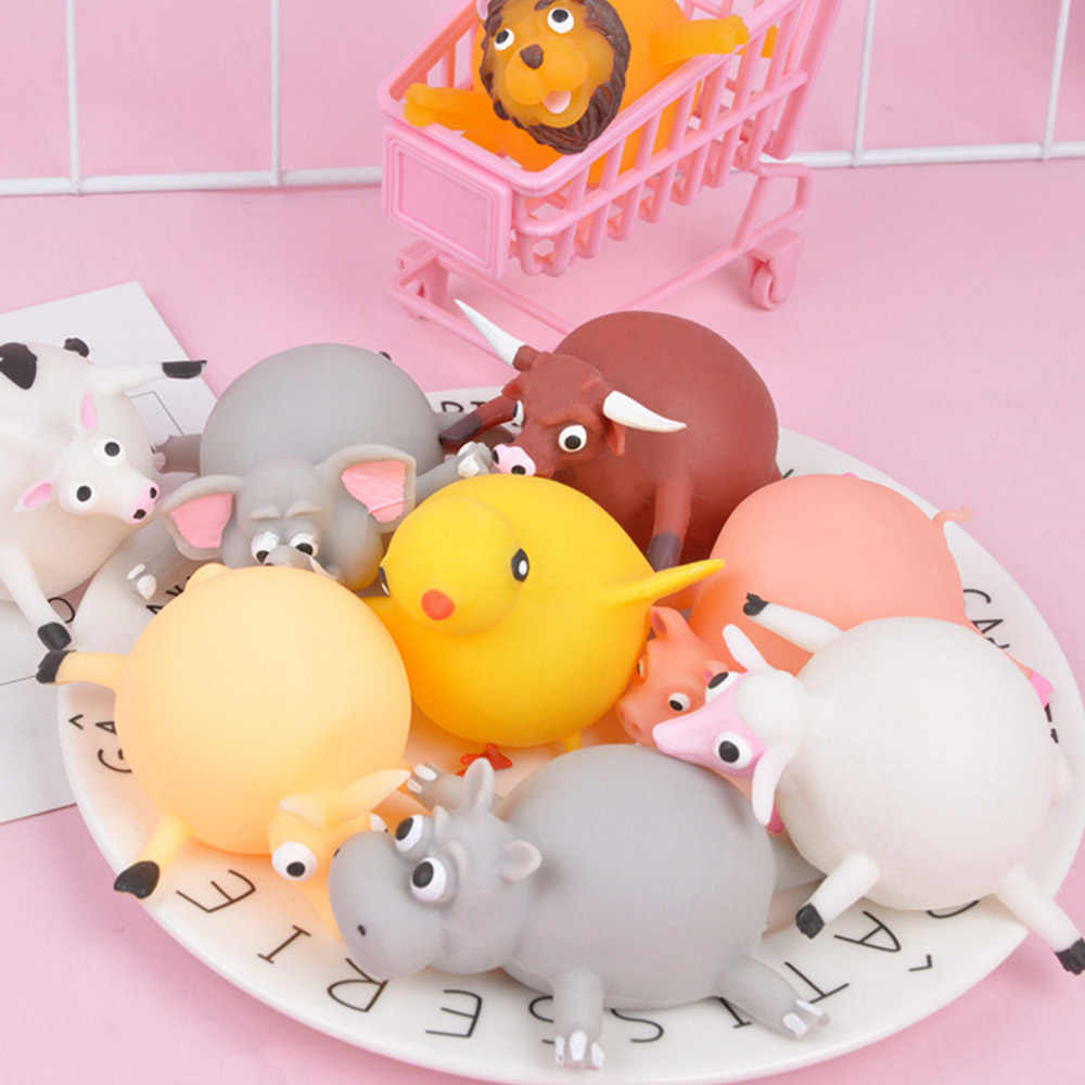 So cute Children Funny Blowing Animals Toys Anxiety Stress Relief Inflatable Animal Balloon Squeeze Ball
