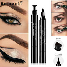 IBCCCNDC Brand Makeup Black Eye Liner Liquid Pencil Quick Dry Waterproof Black Double-ended Makeup Stamps Wing Eyeliner Pencil(China)