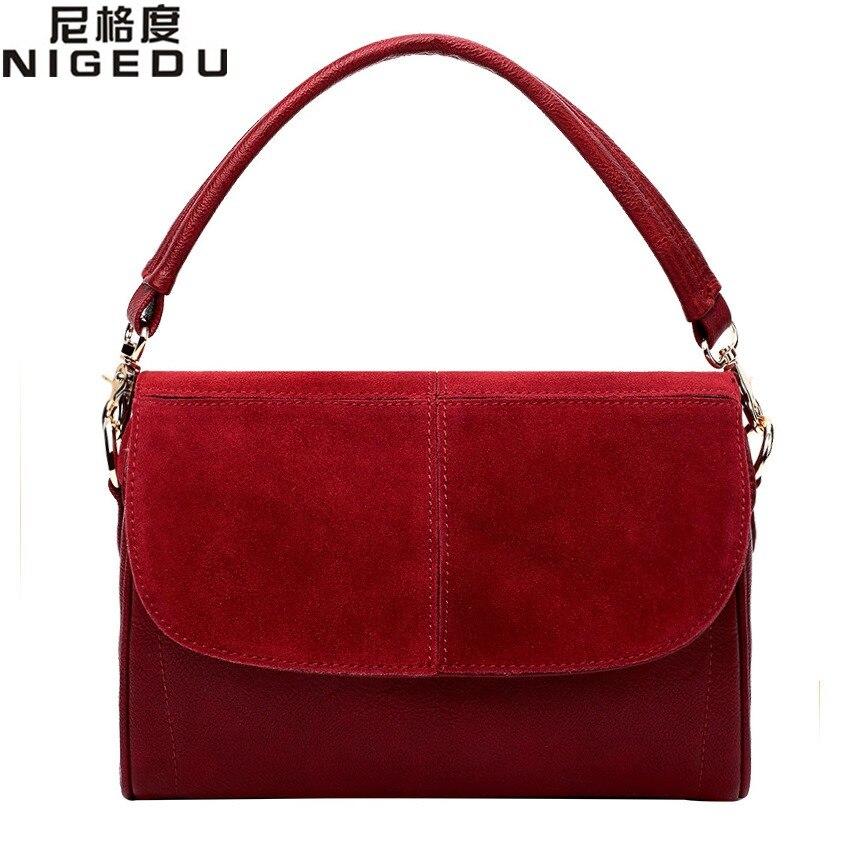 Genuine leather bag cowhide women messenger bags handbag women famous brands designer handbags high quality Shoulder Bags