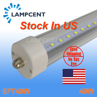30/Pack F96 8FT 40W T8 LED Tube FA8 Single Pin 8 feet 2.4M Ballast Bypass Replace Flourescent Lamp No TAX