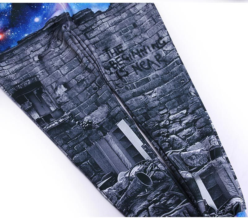 2017 Mr.1991INC New fashion Men/womens 3d pant 3d print A person watching space Meteor shower galaxy joggers trousers