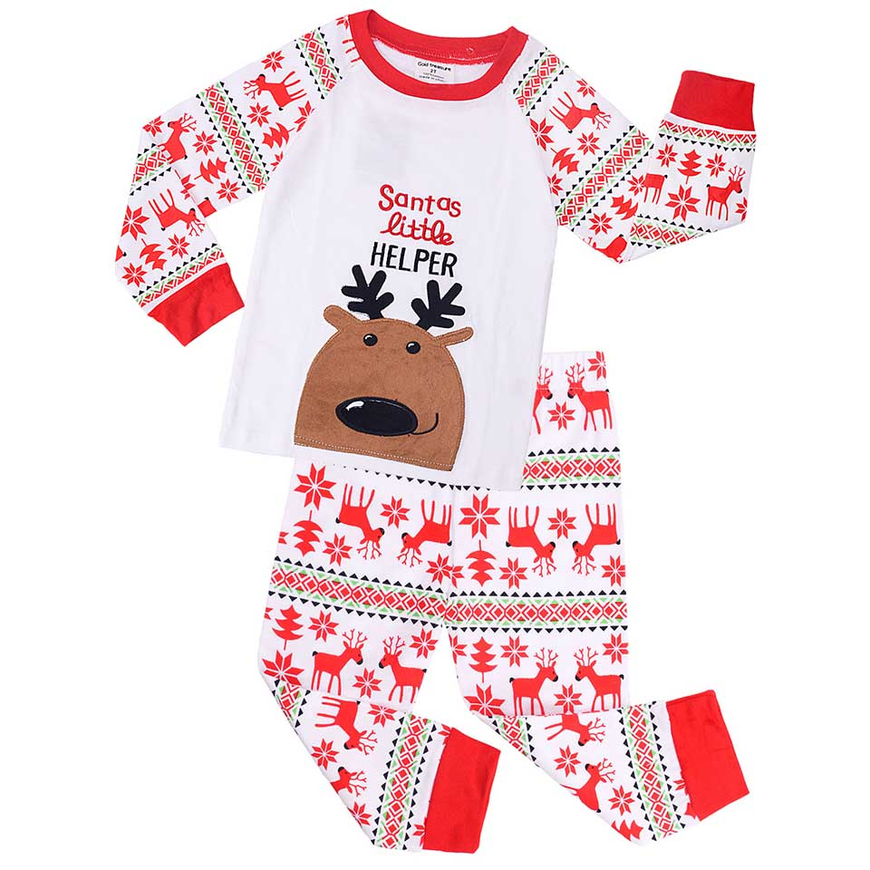 Boys Pajamas Long Sleeve Christmas Pajamas Sets Cotton Girls Pajamas Cartoon Children's Pajama Toddler Kids Sleepwear Suit 2T-7T