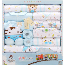 Jhsj-32016 nouveau 100% coton nouveau-né vêtements d'été bébé cadeau boîte ensemble des produits pour bébé nouveau-né bébé ensemble 18 pcs pour Infantile