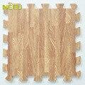 9 pçs/set brinquedos do bebê EVA grão de madeira espuma esteira do jogo chão infantil Pad Pastoral revestido de Mat enigma ambiental para crianças 30 * 30 cm