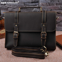 Branded Office Bags Genuine Leather Men Briefcase Cowhide Male Messenger Bags Laptop Business Bag Luxury Lawyer
