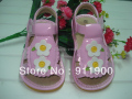 Pink Toddler Girl Squeaky Sandals Summer Little Girl Pretty Sandals free shipping