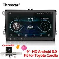 Новый дюймов 9 дюймов Автомобильный мультимедийный плеер Android 8 gps авто радио 2 Din USB для Volkswagen/VW/Passat/POLO/GOLF/Skoda/Seat/Leon радио