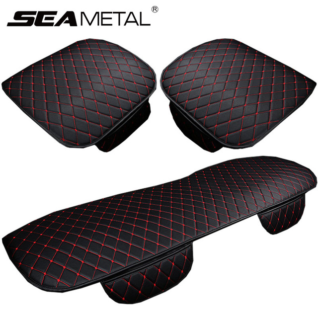 Car Seat Covers PU Leather Seat Cover Sets Automobiles Universal Auto Interior Cushion Accessories Four Season Protect Set Mats