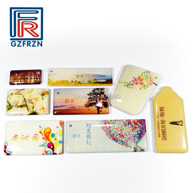 100pcs 125khz Passive RFID Rewritable Epoxy Card Tag With T5577 Chip CMYK Printing For Hotel Access Control