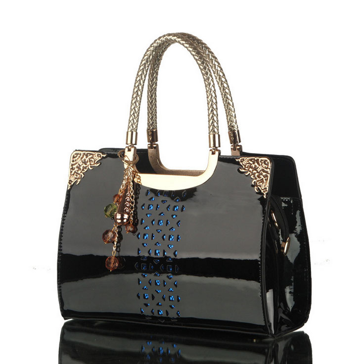 Aliexpress.com : Buy Women'S Bags Pierced Black Patent Leather ...