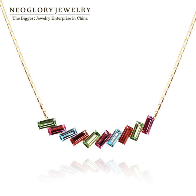 Neoglory Austria Crystal 14K Gold Plated Necklaces & Pendants For Women Fashion Jewelry Accessories 2015 New Brand Arrival