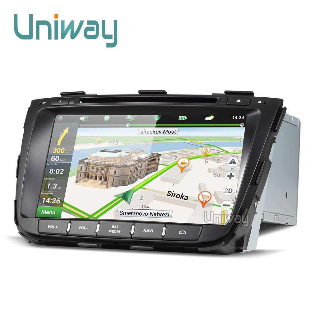 Uniway ZSLT8071 2G أندرويد 8.1 مشغل أسطوانات للسيارة كيا سورينتو 2013 2014 راديو السيارة لتحديد المواقع والملاحة مع التحكم في عجلة القيادة