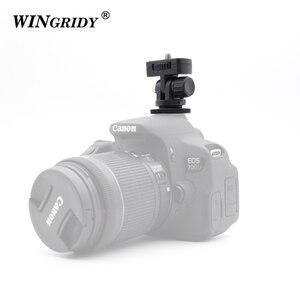 """Image 5 - Винтовое крепление WINGRIDY Professional 1/4 """", адаптер для горячего башмака, регулируемый угол для DSLR камеры, Canon, Nikon, светодиодный светильник, монитор"""
