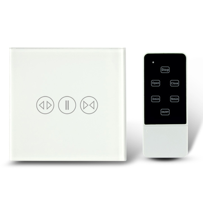 EU Standard 433 MHZ electronic Touch Curtain Switch with Remote Control Smart Home Voltage Operating AC110 240V