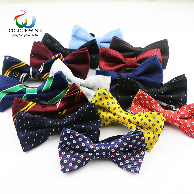 Genuine Yiyanyang Children Bowtie Plaid Polyester Baby Kids Bow Ties 10*5cm Classical Dot Striped Adjustable Elastic Butterfly plaid