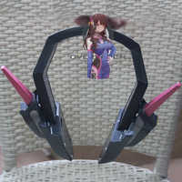 Gamer D.va Headset For Cosplay HANNA Song Pink DVA Headphone Earphone For Halloween Partty Cos Big Event Exhibition Weapon D.V.A