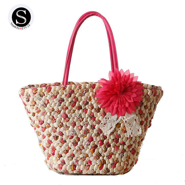 Aliexpress.com : Buy Senkey Style 2017 Summer Totes Straw Woven ...