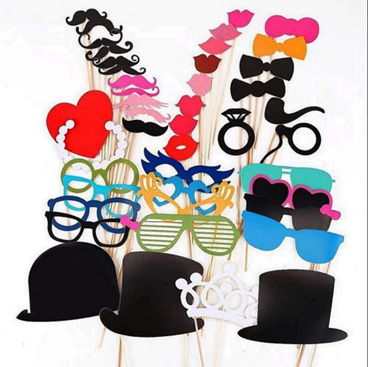 Photo Booth Props 44PCS Masks Lips Favor Wedding Christmas Party Accessories Event Party Supplies 2016 Wedding Party DecorationPhoto Booth Props 44PCS Masks Lips Favor Wedding Christmas Party Accessories Event Party Supplies 2016 Wedding Party Decoration