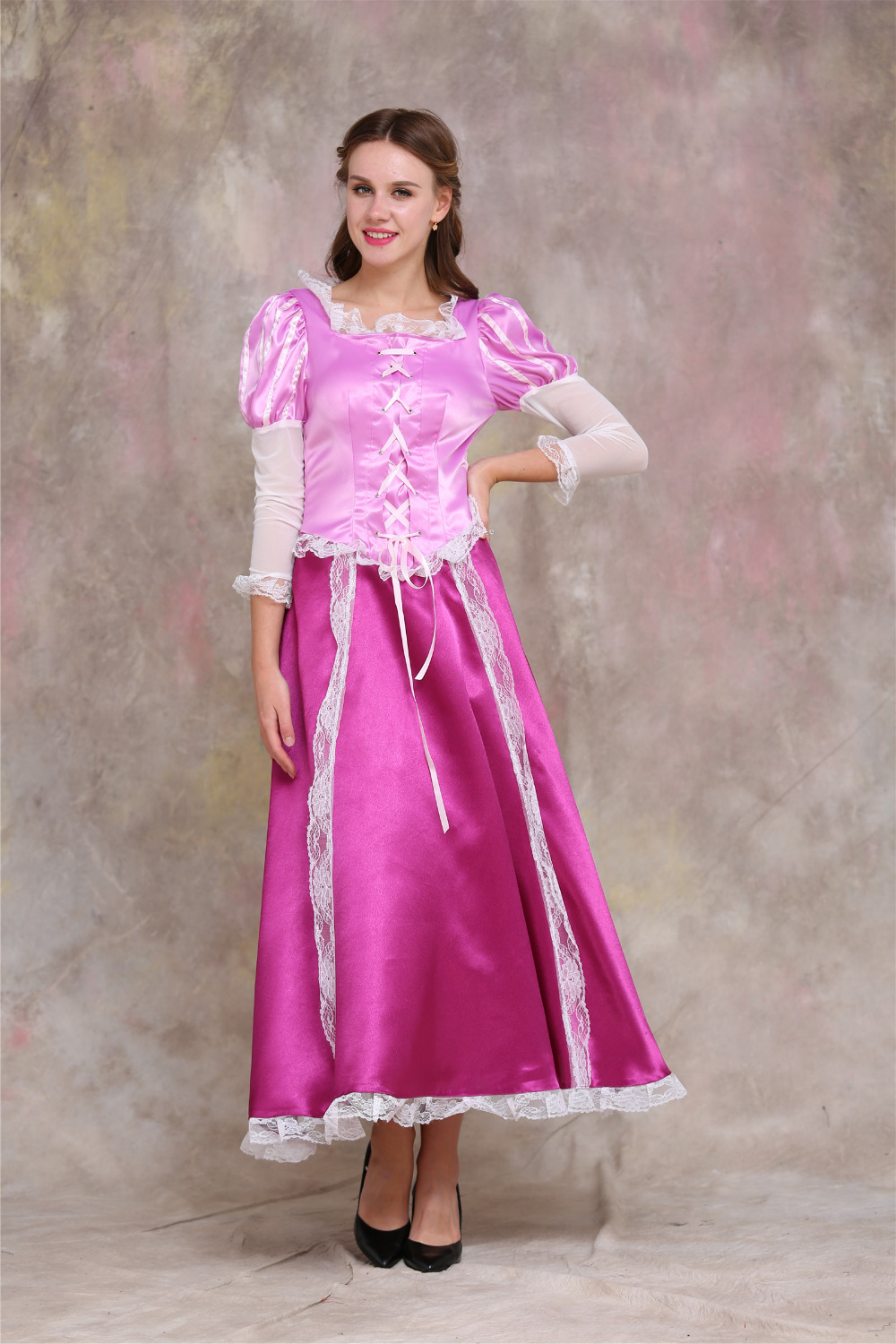 Tangled Rapunzel Princess Dress Costume Adult Rapunzel Dress Gown Halloween Carnival Birthday Cosplay Costume