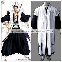 Bleach 11th Division Captain Zaraki Kenpachi Cosplay Costume Men Cloak For Halloween Dress