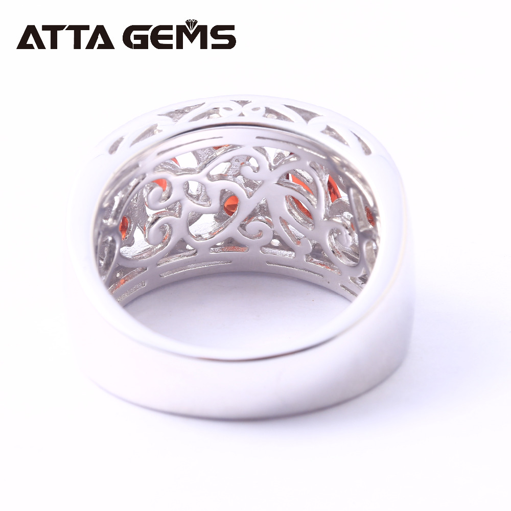 Natural Garnet Sterling Silver Rings for Women Classic Style Birthstone Special Design for Women Anniversary Jewerly Brand