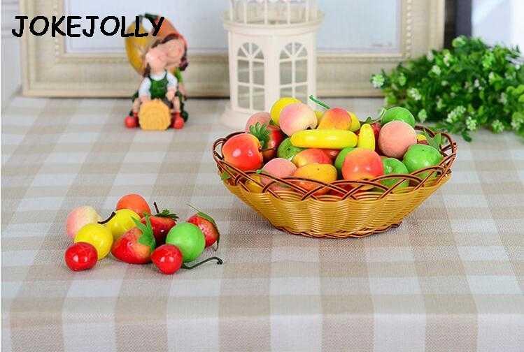 60 قطعة/الوحدة محاكاة الاصطناعي الفواكه و الخضروات رغوة الفواكه الأطفال الاطفال لعب للأطفال لعب التعليم 3.5-5 سنتيمتر WYQ