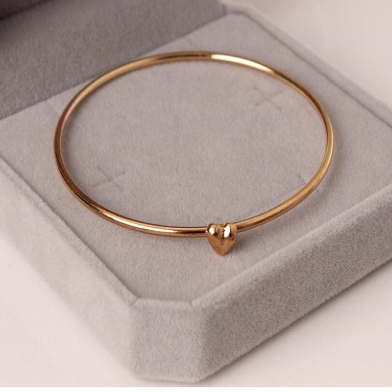 hot new fashion cheap Best accessories small heart wishing bracelets for women Free shipping crystal jewelry wholesale image