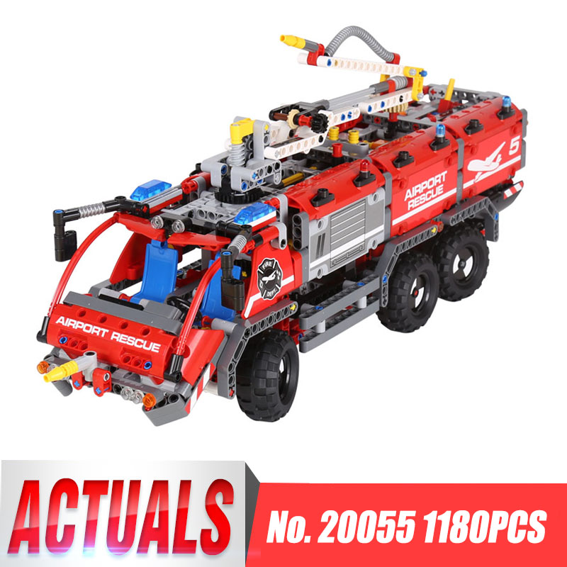 LEPIN 20055 Technic Mechanical Series The Rescue Vehicle Set Children Educational Building Blocks Bricks Toys legoinglys 42068 1 piece bu3328 6 6 33 27 5 29 5 mm z25 guide rail u groove plastic roller embedded dual bearing