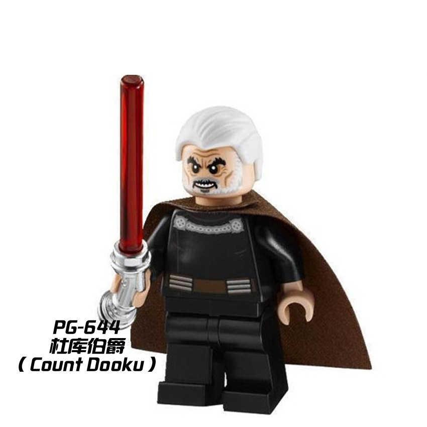 Star Wars Figure Star Wars Leia Han Solo Yoda Luke Darth Vader Maul Sith Lord Revan Dooku Sidious Blocchi di Costruzione giocattoli Dei Mattoni