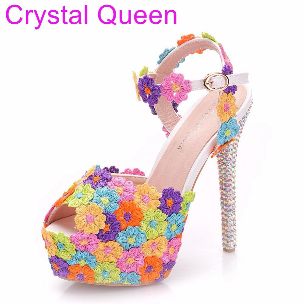 Tacón Plataforma Mujeres 14cm Boda Multi Cristal Finos Sandalias Reina  Zapatos Tacones De Fiesta Las Cm ... e62ddfb3dd53