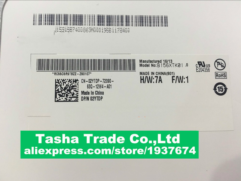 B156XTK01 0 N156BGN-E41 LAPTOP LCD SCREEN Panel Touch