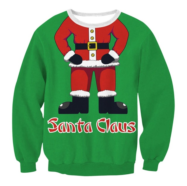 Ugly Christmas Sweater Men.Us 10 99 2018 Ugly Christmas Sweater Santa Claus Printed Loose Sweater Men Women Pullover Christmas Novelty Autumn Winter Tops Clothing In Pullovers