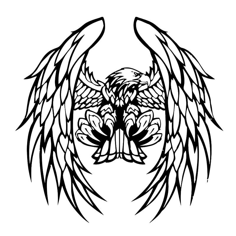 Gambar Logo Kepala Elang Hitam Putih 17 3 Cm 17 1 Cm Eagle Bulu Sayap Aksesoris Mobil Stiker Stiker Hitam Perak S3 5782 Stiker Hitam Stikeraksesoris