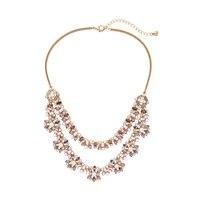 Многослойное моде макси ожерелье акрил с жемчугом и кристаллами партия ожерелье Женщины индийские украшения Аксессуары