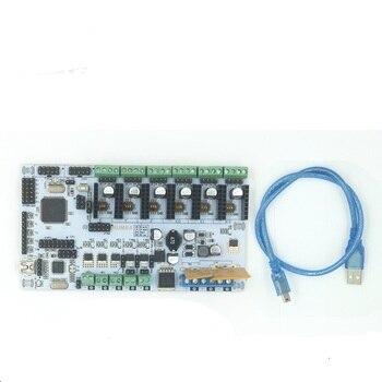 Placa Mãe Da Impressora Rumba Board Com 6 BigBox 3D pcs A4988 Motorista Stepper 6 pcs 3 pcs Adesivo Do Dissipador de Calor, com firmware Bigbox