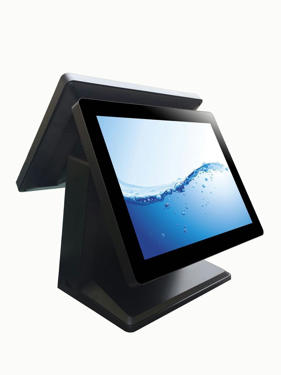"""POS manufacturer 15.6"""" dual screen WIN 7 all in one restaurant pos system"""