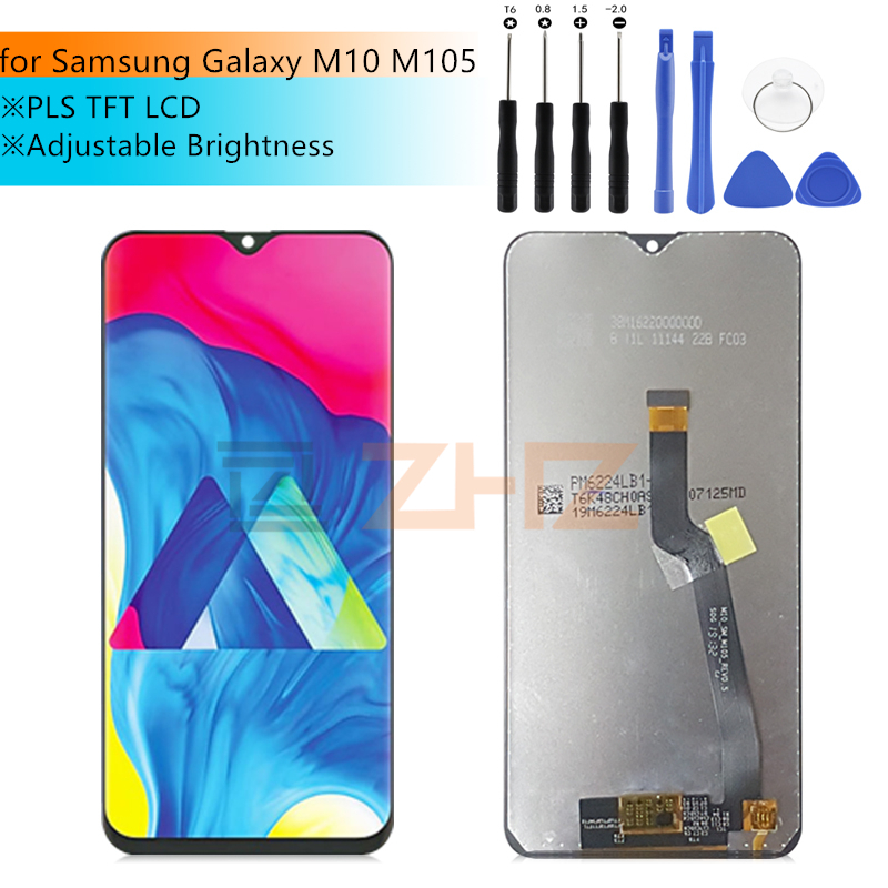 for <font><b>Samsung</b></font> Galaxy <font><b>M10</b></font> <font><b>LCD</b></font> Display M105 Touch <font><b>Screen</b></font> Digitizer Assembly <font><b>screen</b></font> replacement Repair parts 6.22