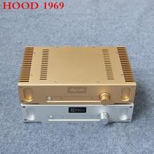 2017 New Hood 1969 Class A Power Amplifier 2N2955 + 2N3955 HIFI Stereo 10Wx2 Audio Amplifier