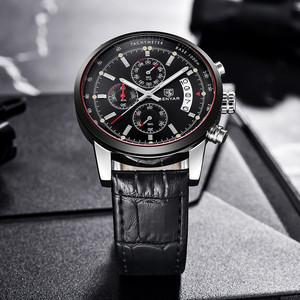 Image 4 - BENYAR Mens Watches 2019 NewLuxury Brand Quartz Leather Watch Men Fashion Chronograph Wristwatch Sport Clock Relogio Masculino